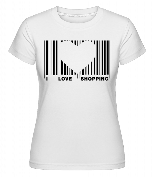 Barcode Love Shopping -  Shirtinator Women's T-Shirt - White - Vorn