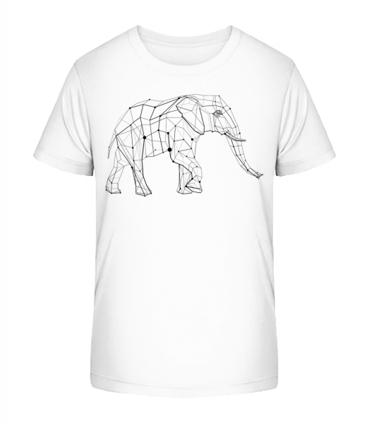 Polygon Elephant - Kid's Premium Bio T-Shirt - White - Vorn