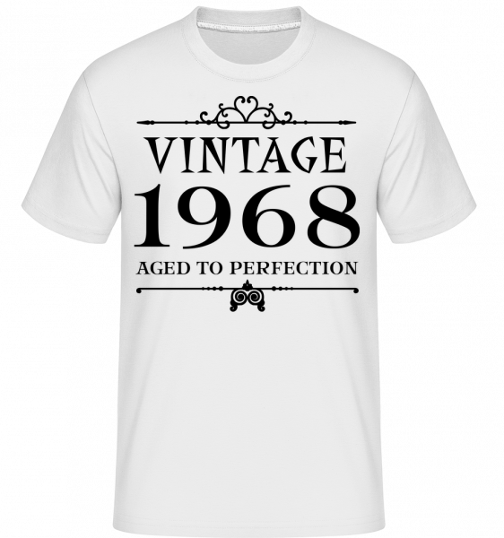 Vintage 1968 Perfection - Shirtinator Men's T-Shirt - White - Vorn