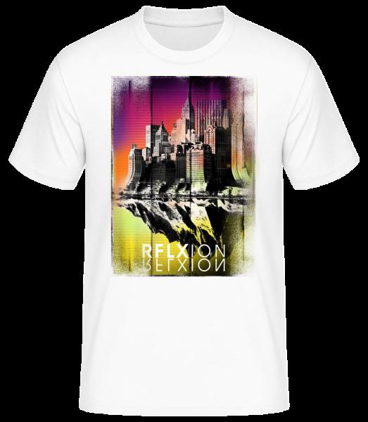 Reflexion - Men's Basic T-Shirt - White - Vorn