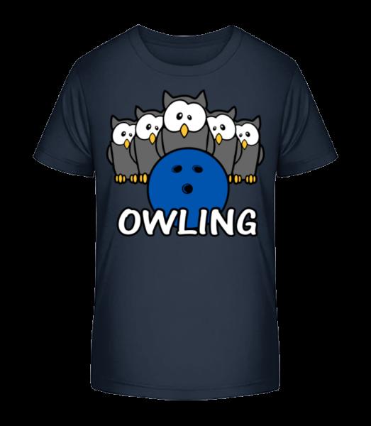 Owling - Kid's Premium Bio T-Shirt - Navy - Vorn