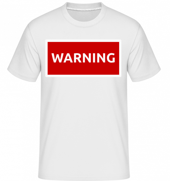 Warning Sign Red - Shirtinator Men's T-Shirt - White - Vorn