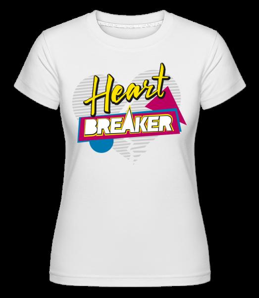 Heart Breaker -  Shirtinator Women's T-Shirt - White - Vorn