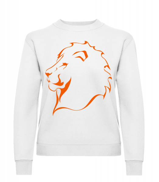 Lion - Classic Ladies' Set-In Sweatshirt - White - Vorn