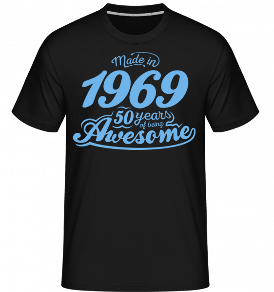 Made In 1969 50 Years Awesome - Shirtinator Men's T-Shirt - Black - Vorn