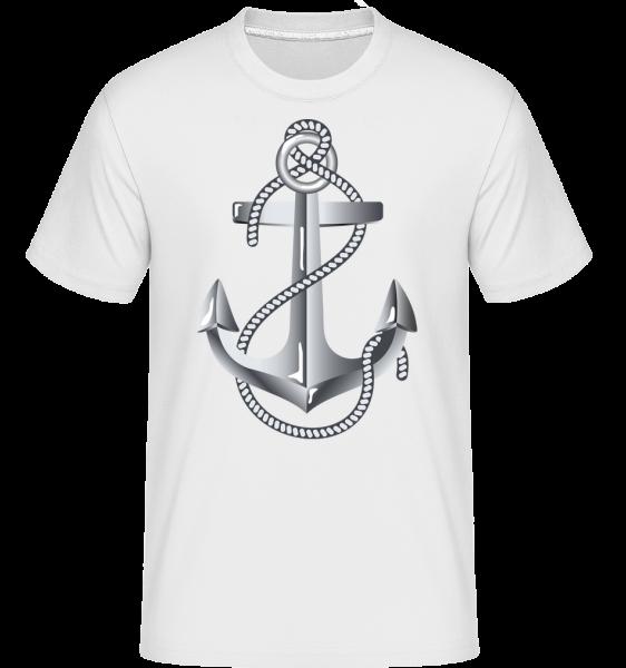 Anchor Rope Comic Silver -  Shirtinator Men's T-Shirt - White - Vorn