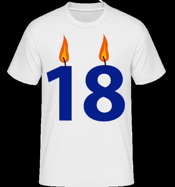 18 Candles -  Shirtinator Men's T-Shirt - White - Vorn