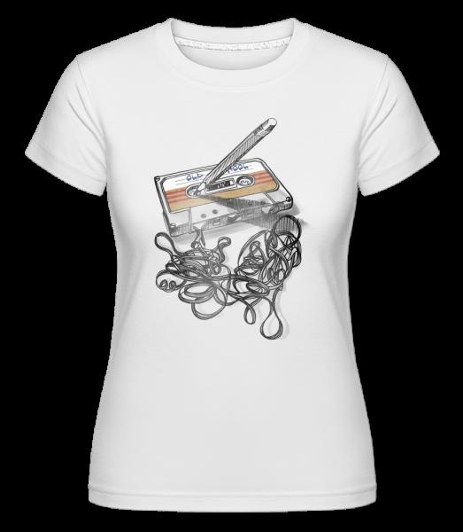 Old School Cassette - Shirtinator Women's T-Shirt - White - Vorn