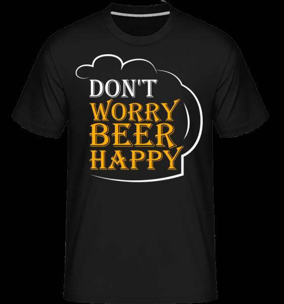 Beer Happy -  Shirtinator Men's T-Shirt - Black - Vorn