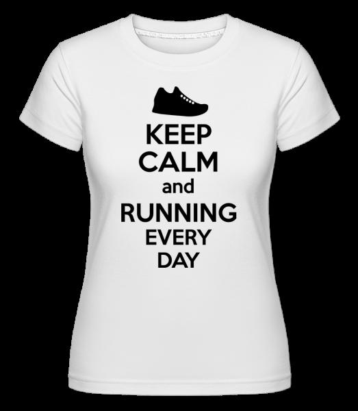 Keep Calm And Running -  Shirtinator Women's T-Shirt - White - Vorn