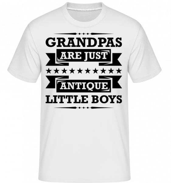 Grandpa's Antique - Shirtinator Men's T-Shirt - White - Vorn