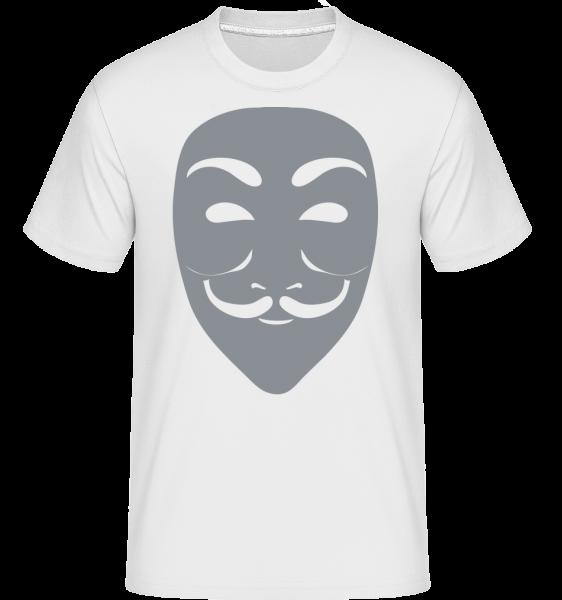 Masque Icon Grey -  Shirtinator Men's T-Shirt - White - Vorn
