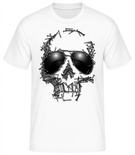 Skull Of Nails - Men's Basic T-Shirt - White - Vorn