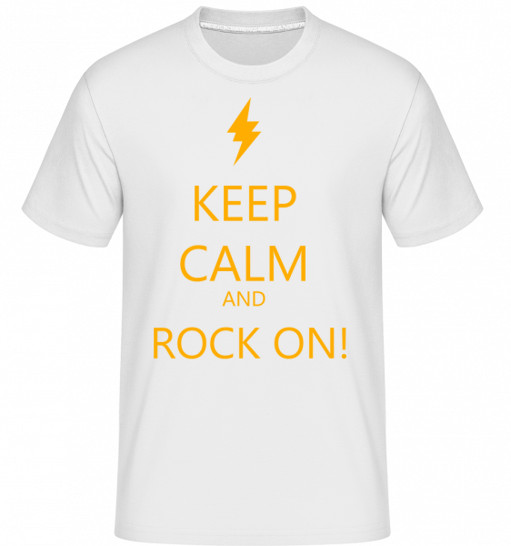 Keep Calm And Rock On! - Shirtinator Men's T-Shirt - White - Vorn