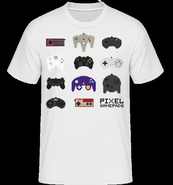 Console Controller Pixel -  Shirtinator Men's T-Shirt - White - Vorn
