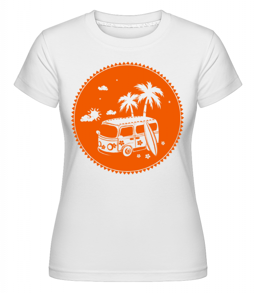 Holiday Icon Orange -  Shirtinator Women's T-Shirt - White - Vorn