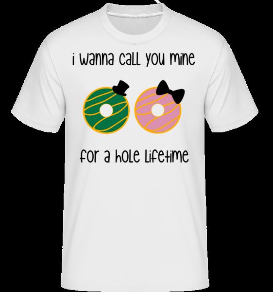 For A Hole Lifetime -  Shirtinator Men's T-Shirt - White - Vorn