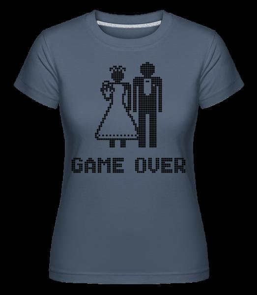 Game Over Sign Black - Shirtinator Women's T-Shirt - Denim - Vorn