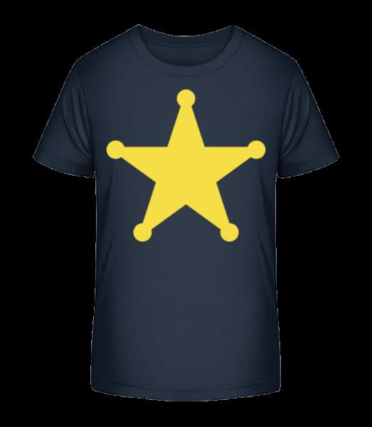 Star Logo - Kid's Premium Bio T-Shirt - Navy - Vorn