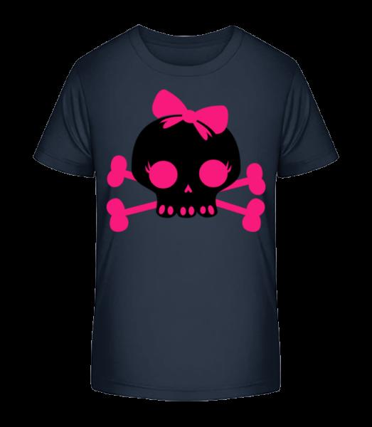 Emo Skull Pink - Kid's Premium Bio T-Shirt - Navy - Vorn