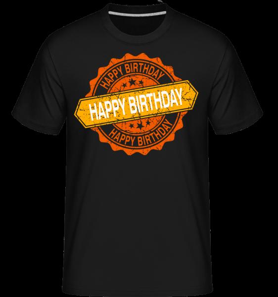 Happy Birthday Logo -  Shirtinator Men's T-Shirt - Black - Vorn