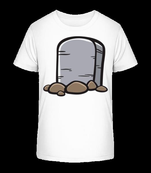 Comic Gravestone - Kid's Premium Bio T-Shirt - White - Vorn