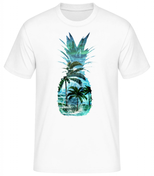 Pineapple Palms - Men's Basic T-Shirt - White - Vorn