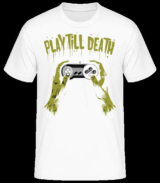 Play Till Death - Men's Basic T-Shirt - White - Vorn