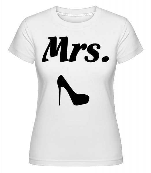 Mrs. Wedding - Shirtinator Women's T-Shirt - White - Vorn