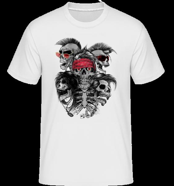 Crazy Skulls - Shirtinator Men's T-Shirt - White - Vorn