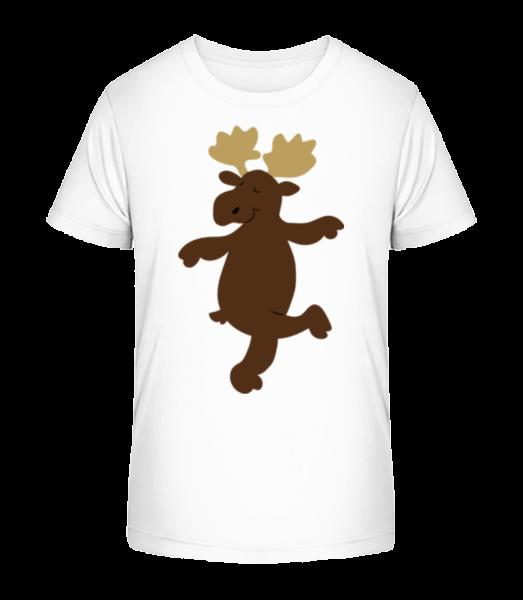 Kids Comic - Reindeer - Kid's Premium Bio T-Shirt - White - Vorn