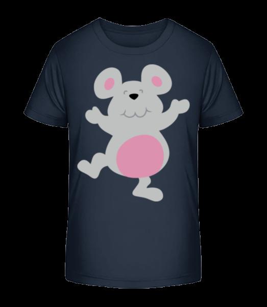 Kids Comic - Mouse - Kid's Premium Bio T-Shirt - Navy - Vorn