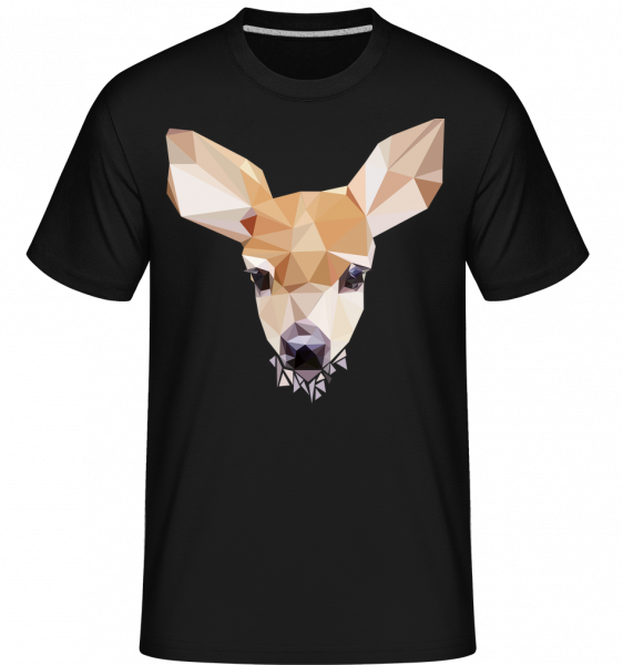 Polygon Deer -  Shirtinator Men's T-Shirt - Black - Vorn