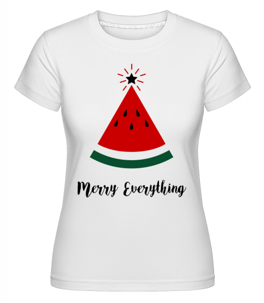 Merry Everything Christmas - Shirtinator Women's T-Shirt - White - Vorn