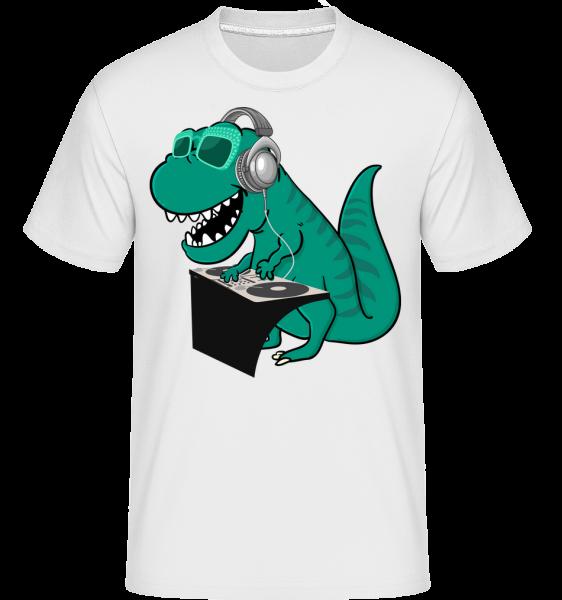 T-Rex DJ - Shirtinator Men's T-Shirt - White - Vorn