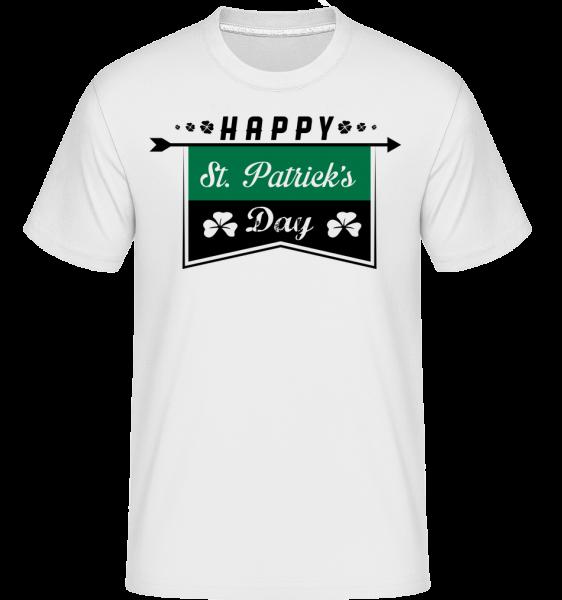 Happy St. Patrick's Logo -  Shirtinator Men's T-Shirt - White - Vorn