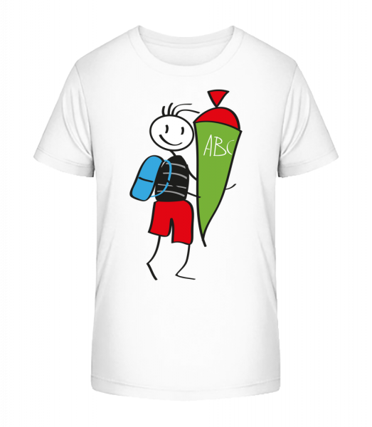 Child With Cornet Filled With Sweets - Kid's Premium Bio T-Shirt - White - Vorn