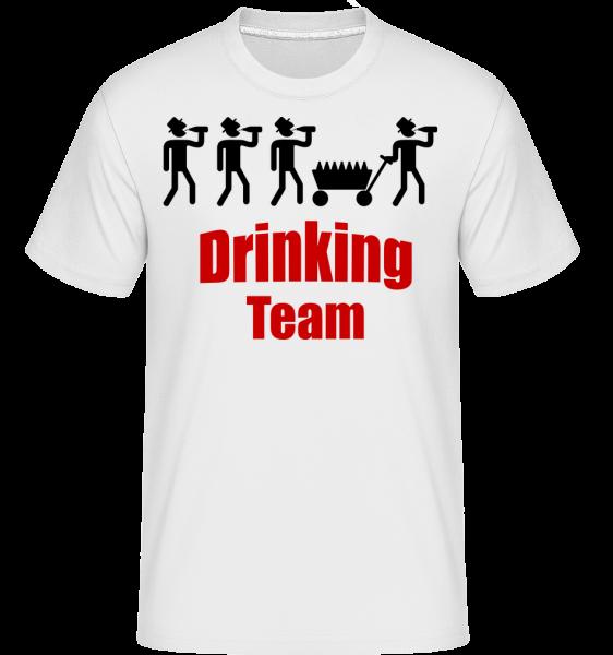 Drinking Team -  Shirtinator Men's T-Shirt - White - Vorn