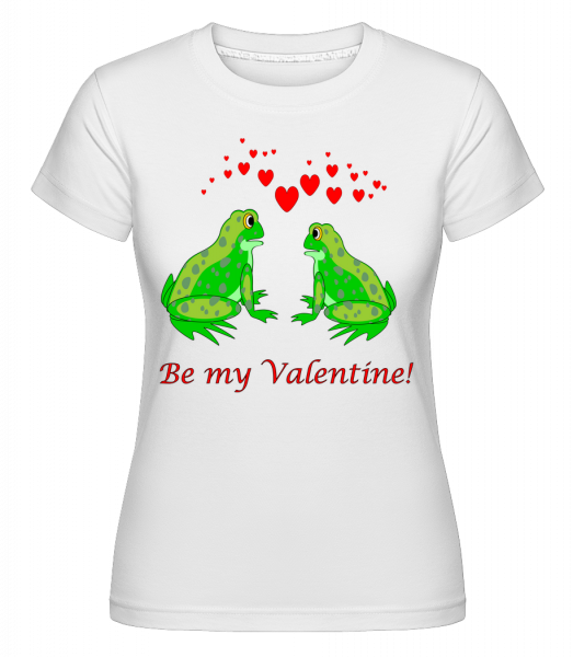 Frogs Be My Valentine - Shirtinator Women's T-Shirt - White - Vorn