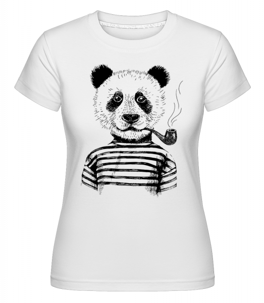 Hipster Panda - Shirtinator Women's T-Shirt - White - Vorn