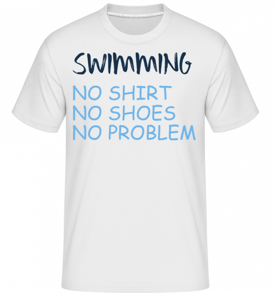 Swimming No Problems -  Shirtinator Men's T-Shirt - White - Vorn