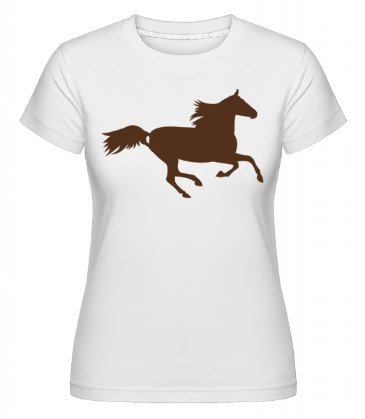 Horse - Shirtinator Women's T-Shirt - White - Vorn