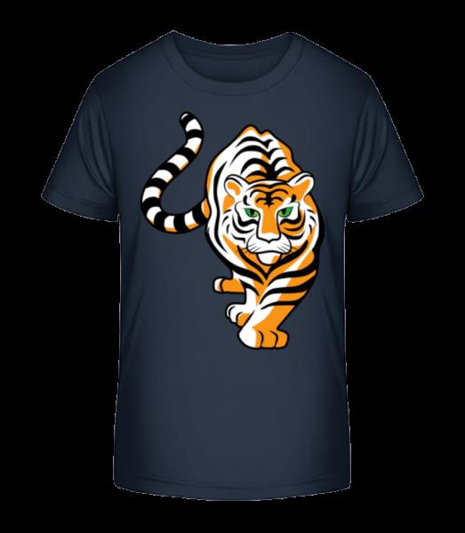 Tiger - Kid's Premium Bio T-Shirt - Navy - Vorn