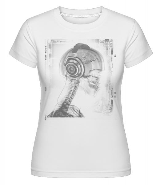 Skeleton Music -  Shirtinator Women's T-Shirt - White - Vorn