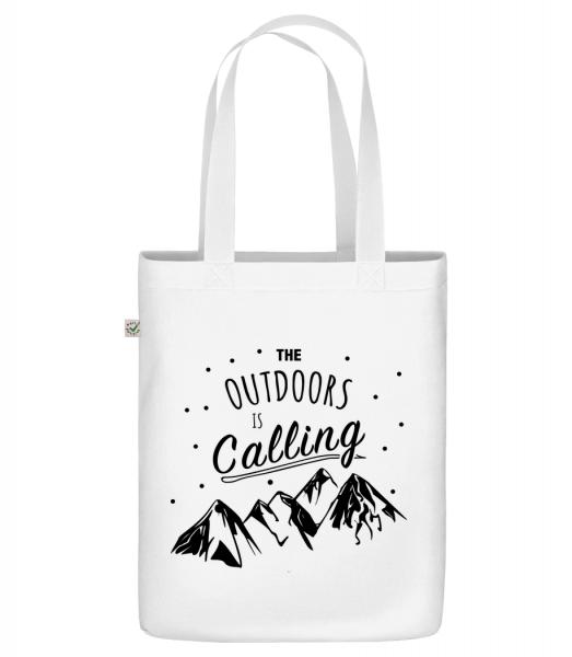 """The Outdoors Is Calling - Organic """"Earth Positive"""" tote bag - White - Vorn"""