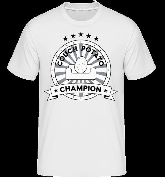 Couch Potato Champion -  Shirtinator Men's T-Shirt - White - Vorn