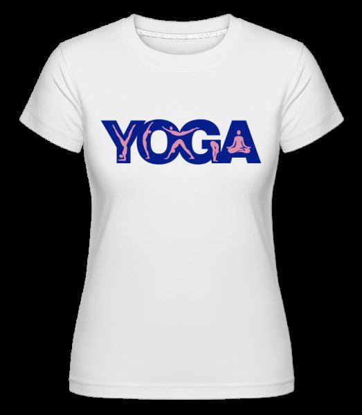 Yoga Sign Blue -  Shirtinator Women's T-Shirt - White - Vorn