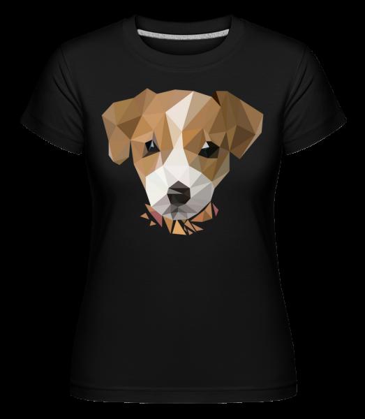Polygon Dog -  Shirtinator Women's T-Shirt - Black - Vorn