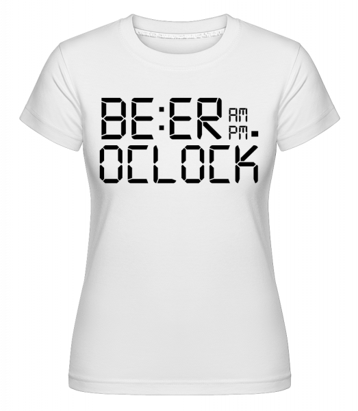 Beer O'Clock -  Shirtinator Women's T-Shirt - White - Vorn