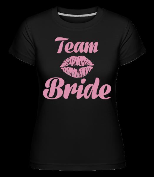 Team Bride Kiss -  Shirtinator Women's T-Shirt - Black - Vorn